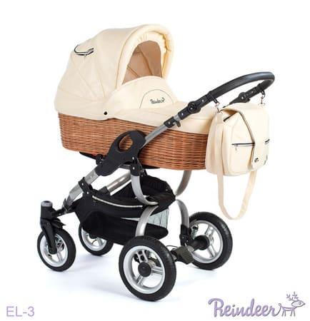 Коляска для новорожденных Reindeer City Eco-Leather